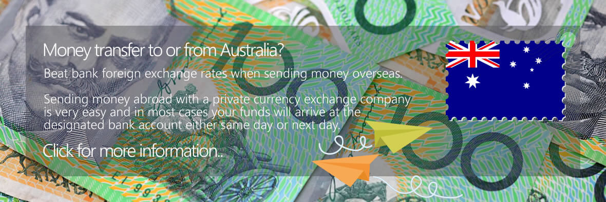 Australian Dollar Bank Money Transfers to the UK