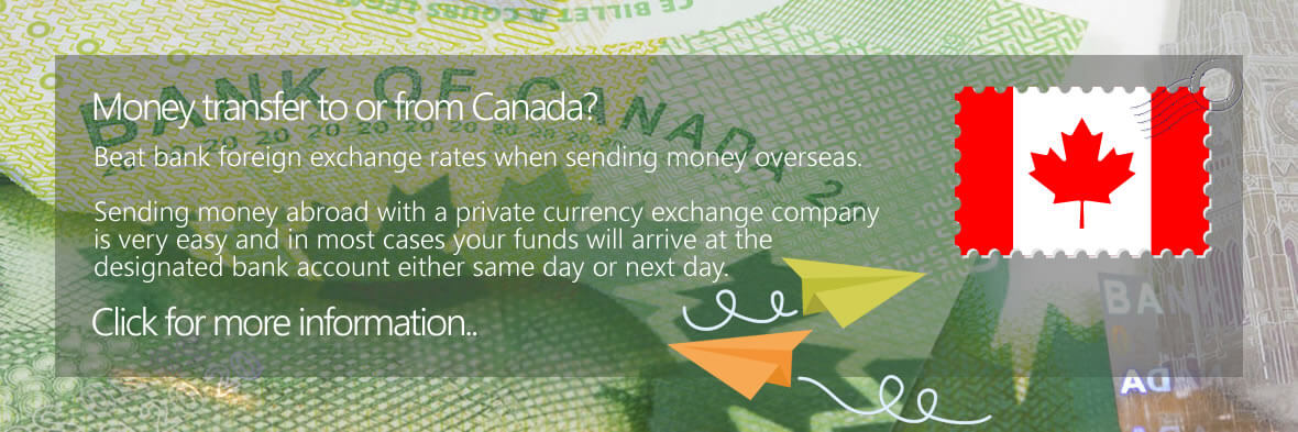 Canadian Dollar Bank Money Transfers to the UK